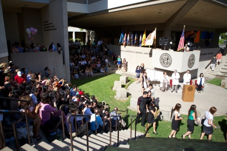 The White Coat Ceremony takes place in SCCO's Amphitheater
