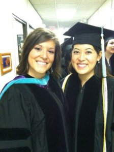 Commencement with fellow classmate, Dr. Brooke Messer