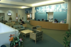 Patient reception at SCCO's on-campus Eye Care Center