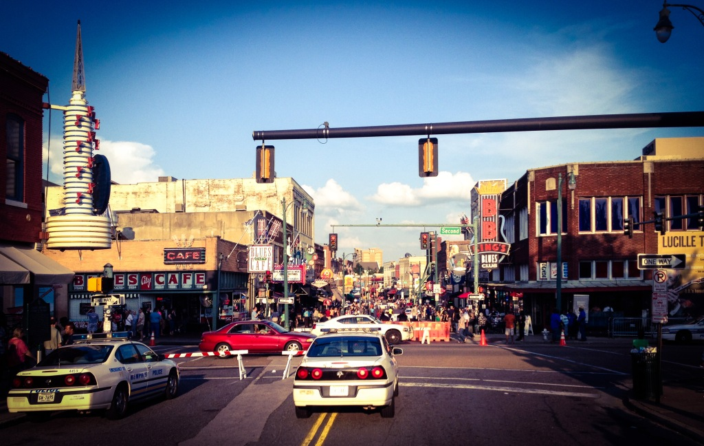 The beating heart of downtown Memphis, Tennessee: Beale Street.