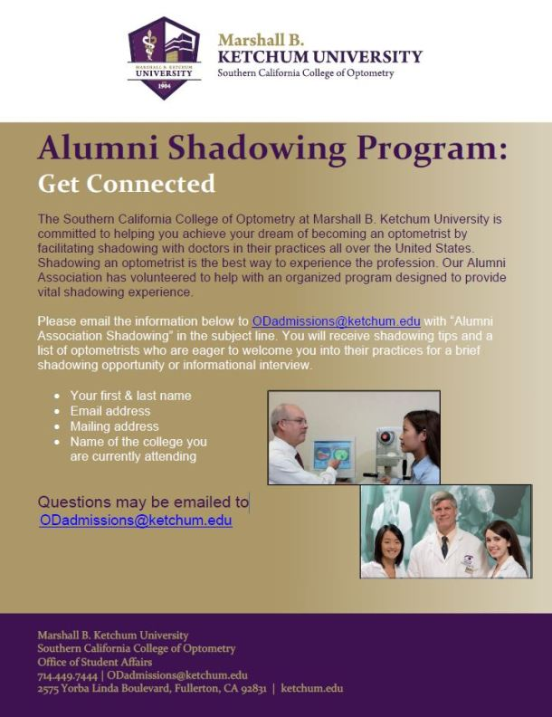 Alumni Shadowing Brochure