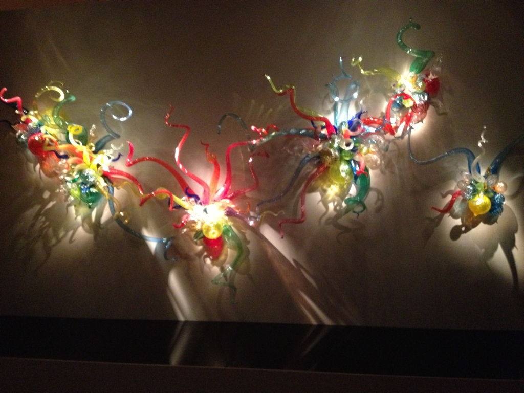 """Dale Chihuly glass art exhibit in the museum of modern art in Oklahoma City."""