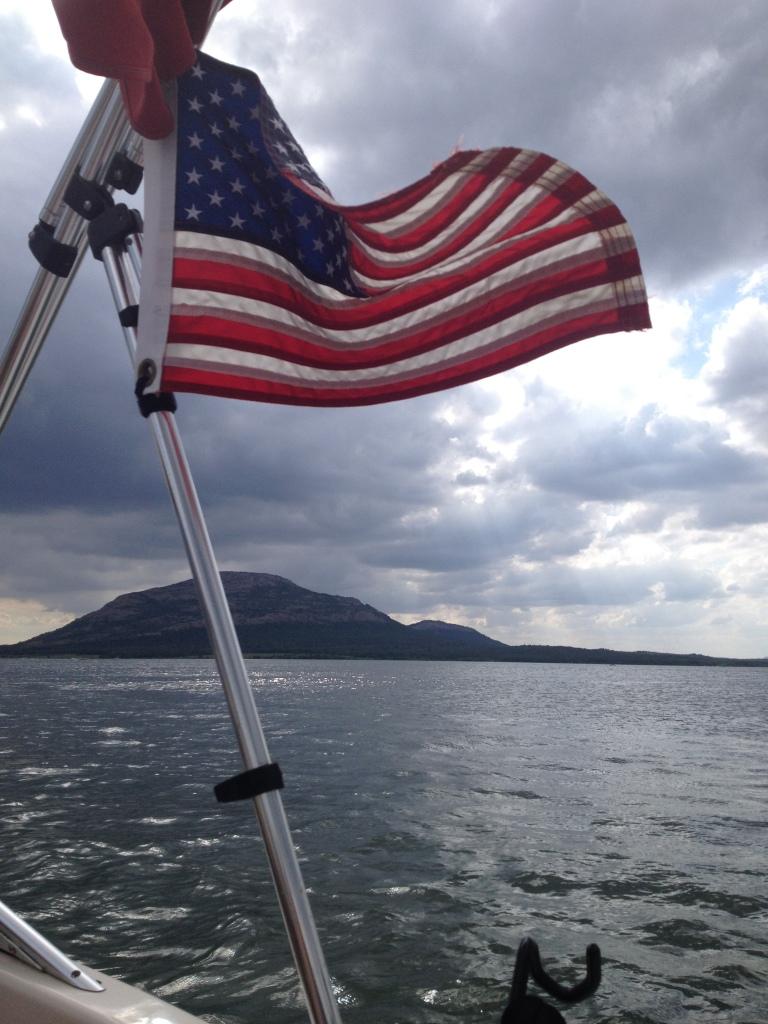 """Boating on Lake Latonka on rotation in Lawton, OK."""