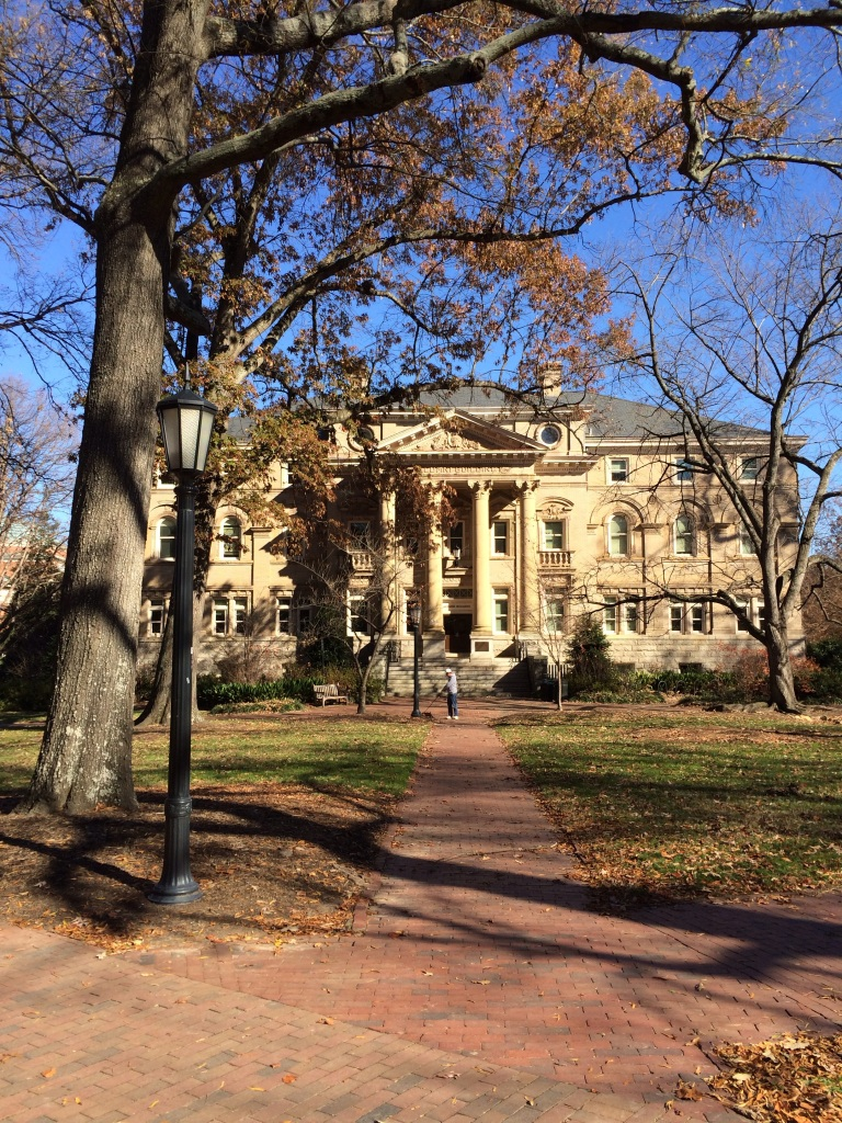 """Exploring University of North Carolina at Chapel Hill's campus while on rotations."""