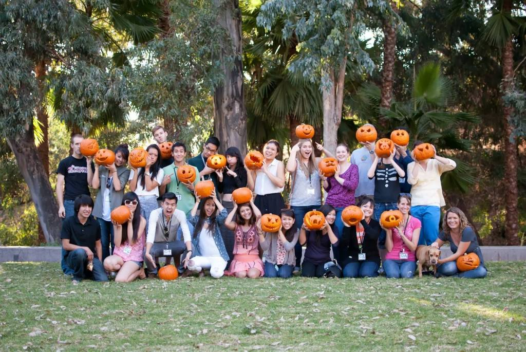 """The pumpkin carving competition was intense this year (like camping), and some of our inner nerd really shined through."""
