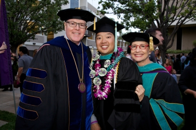 Left is Dr. Kevin Alexander, President of MBKU, Dr. Tim Ng (center) and me, Dr. Jane Ann Munroe (right)
