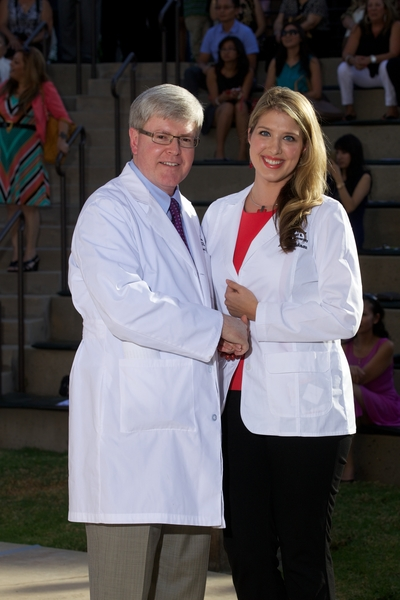 Marie Braukman at the White Coat Ceremony for the Class of 2017