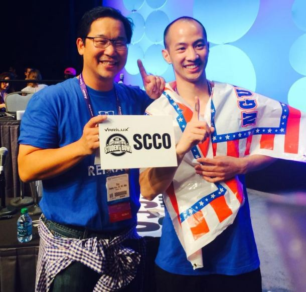 David with Dr. Stanley Woo, Dean of SCCO
