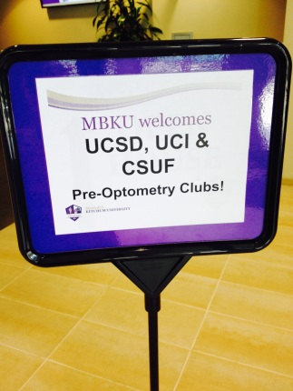We roll out the red carpet for pre-optometry club visits!