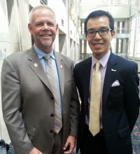 Lawrence and Dr. Munson, AOA President, at Optometry's Meeting 2014