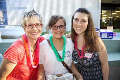 Welcome Back BBQ: pictured here with Dr. Jane Ann Munroe, left, along with Bridget Anderson, and Maggie Francisco, both from Class of 2016