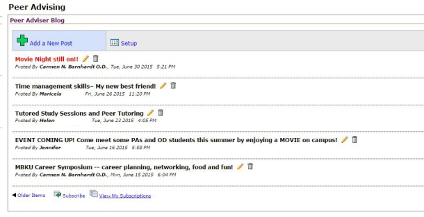 Names Erased_Sample of Peer Advisor Blog Topics