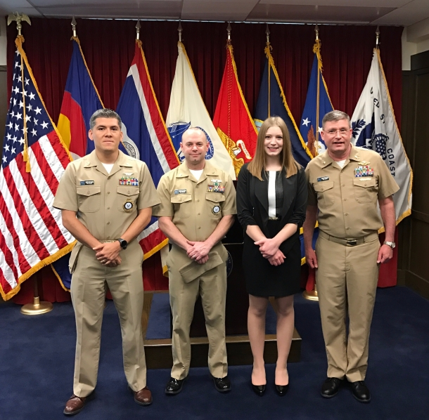 Commissioning ceremony for the US Navy after receiving the HPSP scholarship (