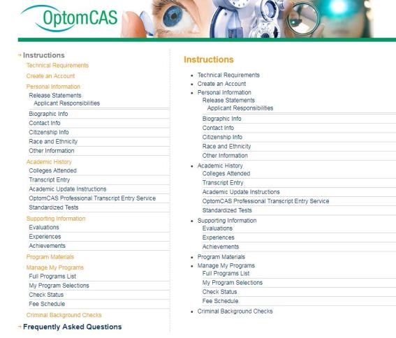 OpttomCAS Application Instructions