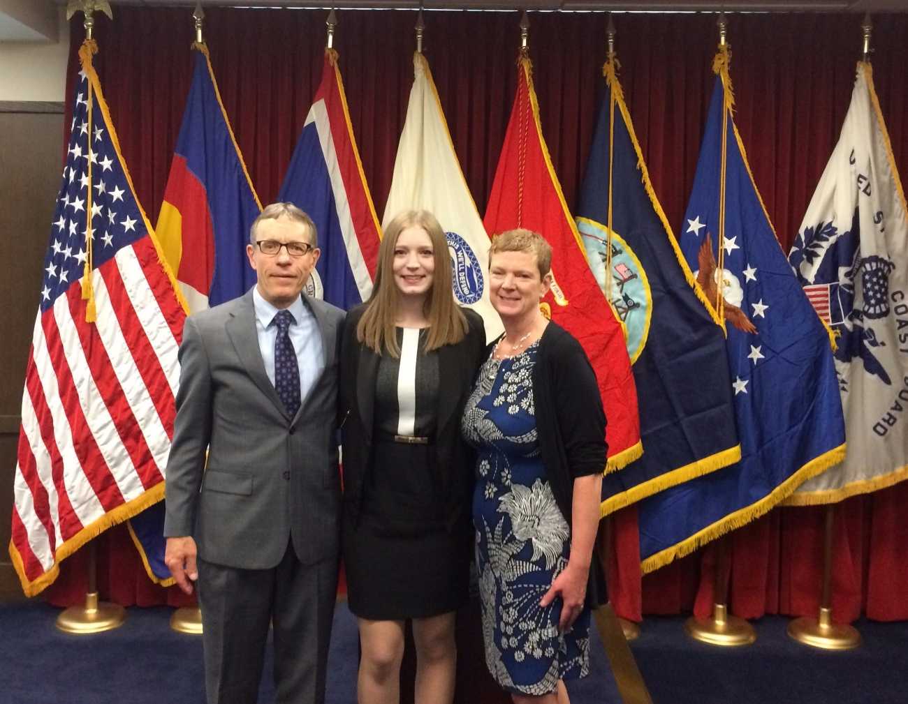 Wwith my proud parents at my commissioning ceremony