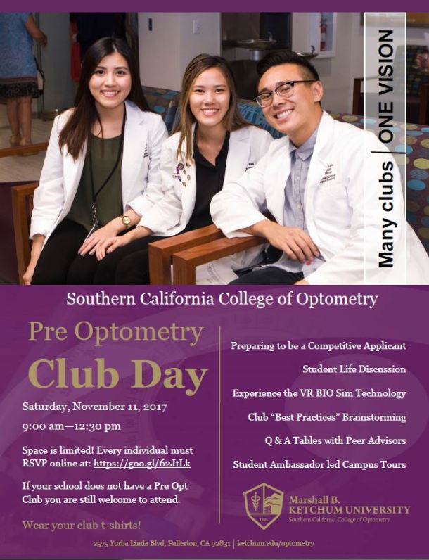 Pre-Optometry Club Day Flyer