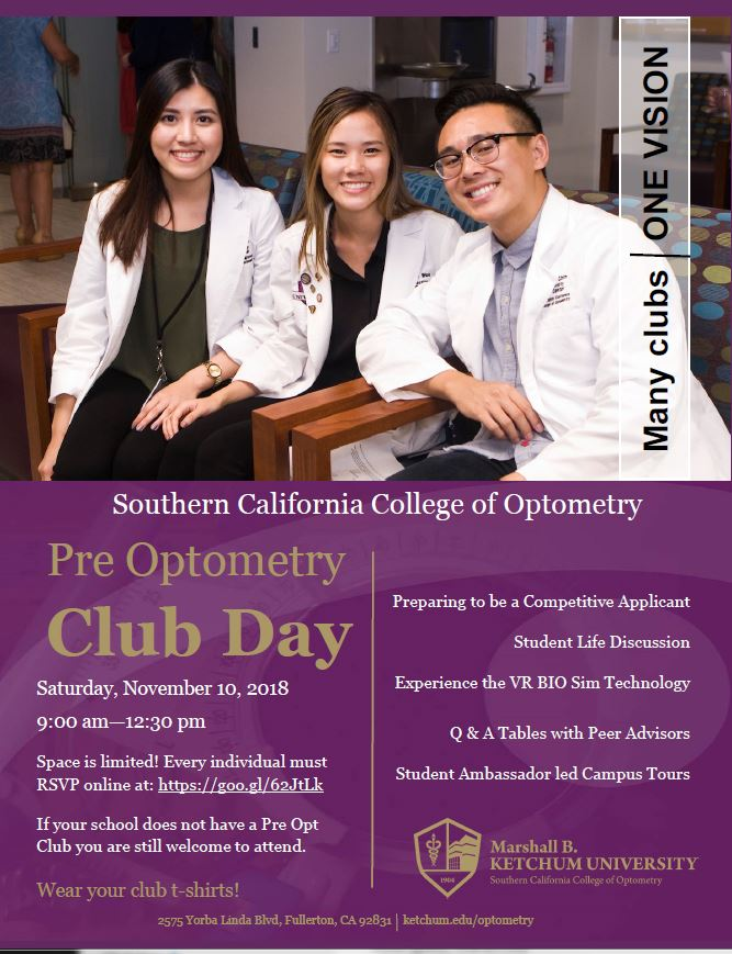 Pre-Optometry Club Day 2018
