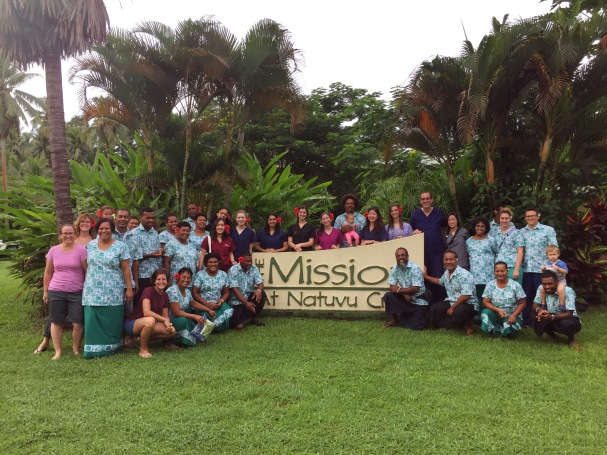 Volunteers and workers of the Mission at Natuvu Creek