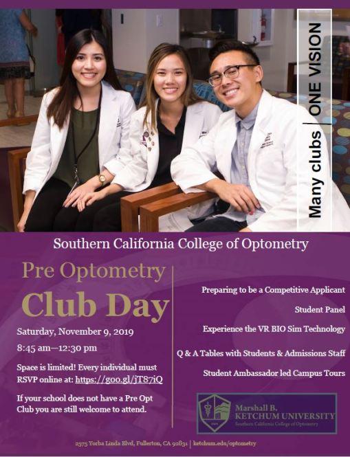 Pre-Optometry Club Day 2019